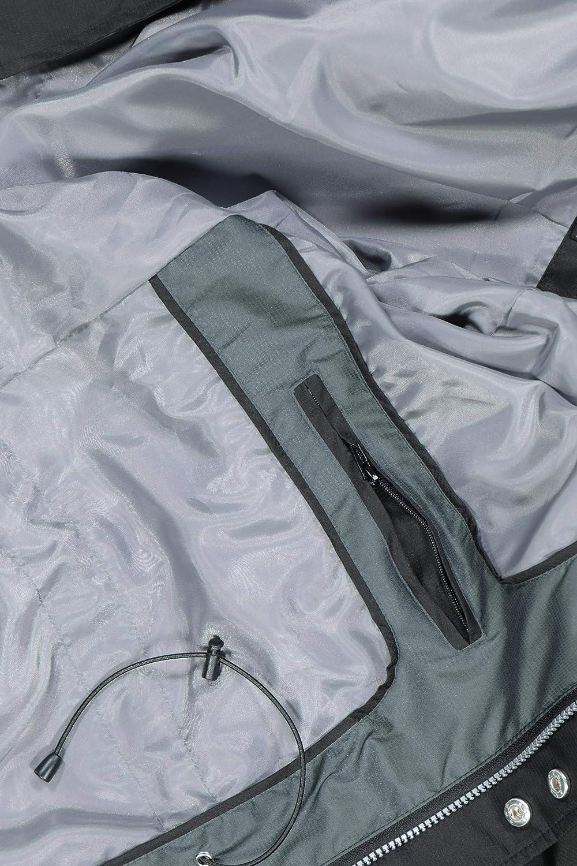 JP 1880 Herren gro/ße Gr/ö/ßen bis 7XL 720245 Kapuze im Stehkragen Kurzmantel verdeckter Zipper wasserdichte /Ärmeltasche 2 Taschen