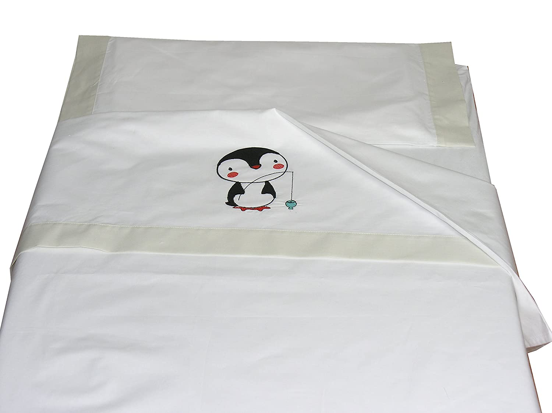 2/x s/ábana bajera ajustable 100/% algod/ón para cuna 70/x 140/cm lim/ón