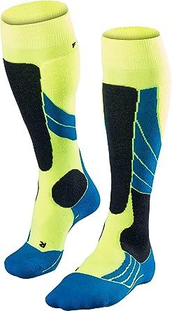 FALKE Women SK2 Wool Ski Socks UK sizes 2.5-8 1 Pair EU 35-42 fast drying sweat wicking Merino Wool Blend breathable Multiple Colours Medium cushioning