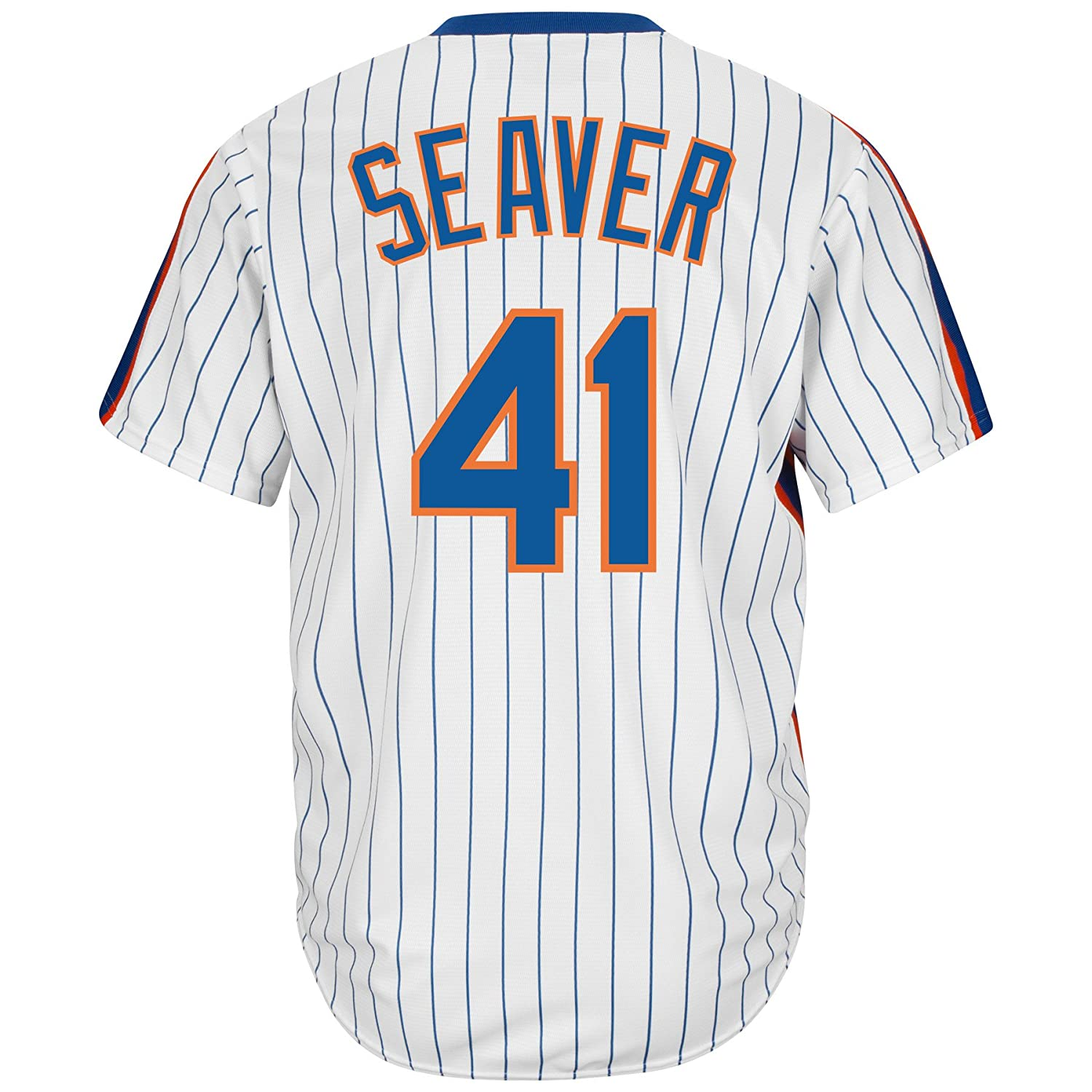 half off 27d48 4b2ec Majestic Tom Seaver New York Mets Cool Base Cooperstown Jersey