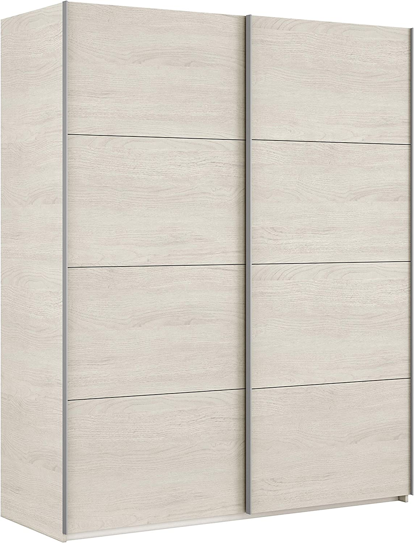 Habitdesign ARM150Y - Armario Dos Puertas correderas, Modelo Hera, Medidas: 150 x 200 x 60 cm (Blanco Alpes)