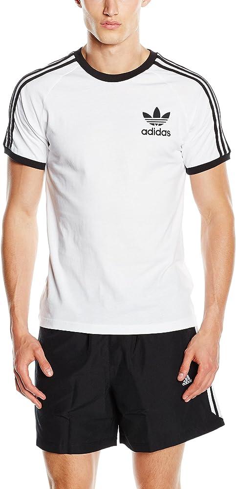 adidas California Camiseta de Manga Corta, Hombre, Color Blanco, tamaño Small: adidas Originals: Amazon.es: Ropa y accesorios