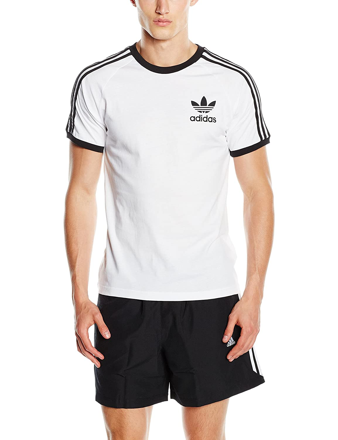 adidas California Camiseta de Manga Corta, Hombre, Color Blanco, tamaño Small: adidas Originals: Amazon.es: Ropa y accesorios