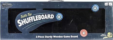 """SHUFFLEBOARD 2-PIECE STURDY WOODEN GAME BOARD  CLASSIC  62/"""" long 53325"""