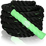 Battle Ropes Cardio Exercise Training - 40 feet x 1.5 inch - Green