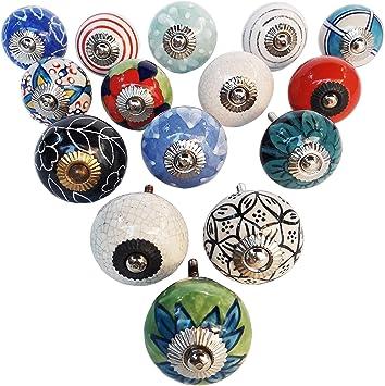 Knobs for Furniture Knobs for Dresser Vintage Collection for home Decor Set of 15 Ceramic Knobs Drawer Knobs