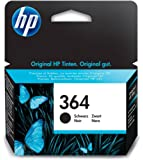 HP 364 - Cartucho de tinta Original HP 364 Negro para HP DeskJet, HP OfficeJet y HP PhotoSmart