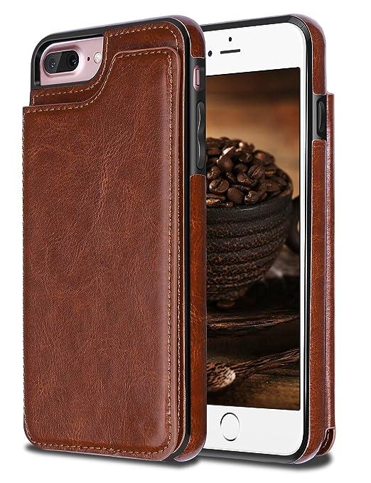 9 opinioni per iPhone 7 Plus Custodia,Coolden® Ultra Sottile Protettiva PU Cuoio Custodia in