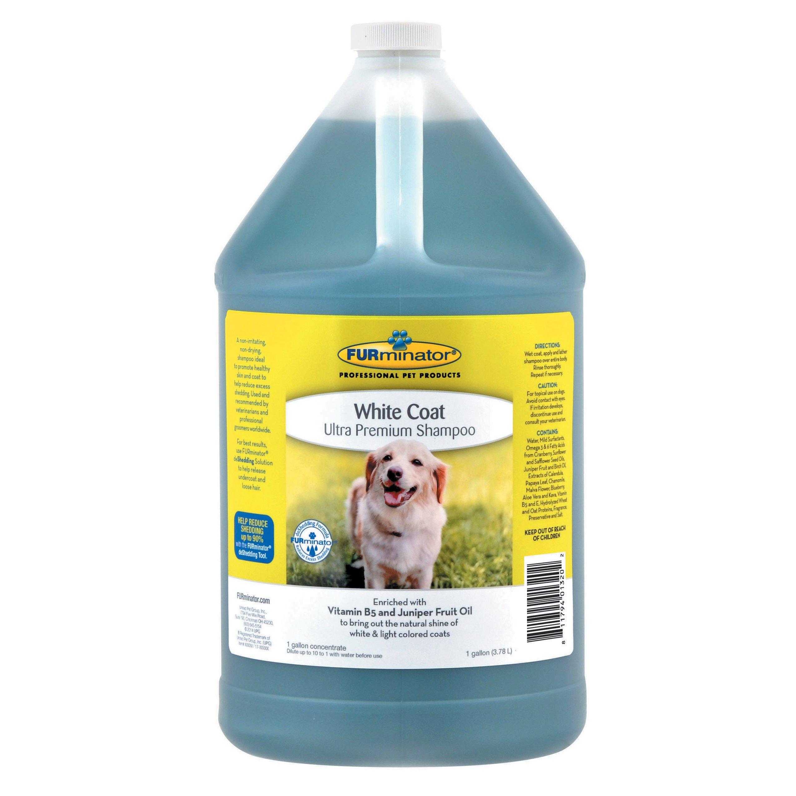 Furminator White Coat Ultra Premium Dog Shampoo, 1-Gallon