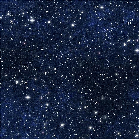 Oscuro Azul Cielo brillantes estrellas noche estrellada fotografía fondos vinilo papel pintado de tela Bebé recién