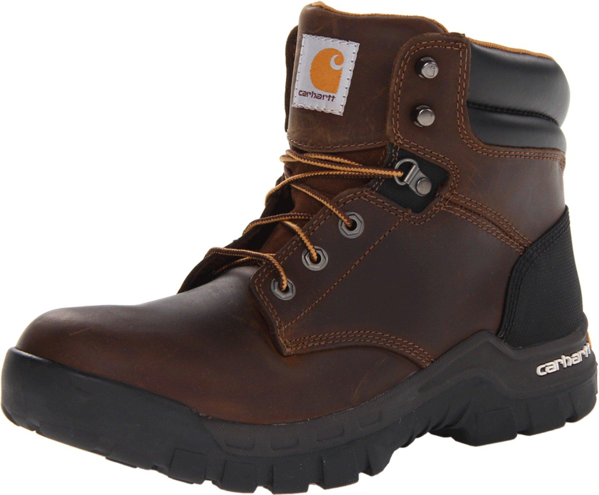 Carhartt Men's 6'' Rugged Flex Waterproof Soft Toe Work Boot CMF6066,Brown Oil Tanned Leather,11 W US