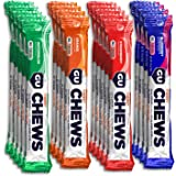 GU Energy Chews Double-Serving Sleeve, Assorted Flavors, 1.9 oz, Pack of 18
