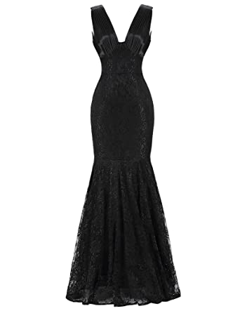 Amazon.com: Women\'s Mermaid Lace Ball Evening Gowns Prom Dresses ...