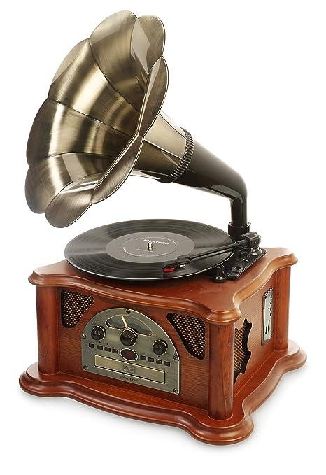 Ricatech RMC350 Legend Music Centre 5 en 1 con trompeta vintage ...