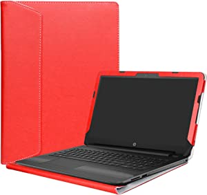 """Alapmk Protective Case Cover for 15.6"""" HP Notebook 15 15-bsXXX (Such as 15-BS015DX)/15-bwXXX (Such as 15-BW011DX)/HP 250 G6/HP 255 G6/HP 256 G6 Laptop(Not fit 15-acXXX/15-ayXXX/15-daXXX),Red"""