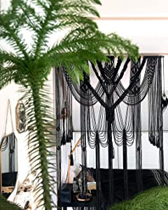American Knit Bohemian Macrame Wedding Backdrop Decor Boho Chic Macrame Wall Hanging Style Macrame Tapestry Macrame Curtain & Macrame Arch 185 cm X 215 cm