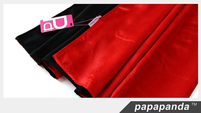 papapanda Vampiro Collo Alto Mantello Rosso Nero Bambini 1m