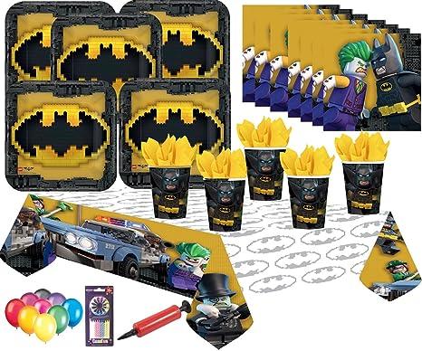 Tavolo Compleanno Bambini : Batman lego party supplies kit da tavola per feste di compleanno per
