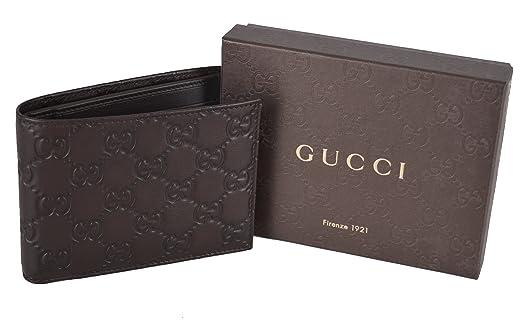 7d3530669de5 Amazon.com: Gucci 278596 Men's Brown Leather GG Guccissima Monogram Bifold  Wallet: Clothing