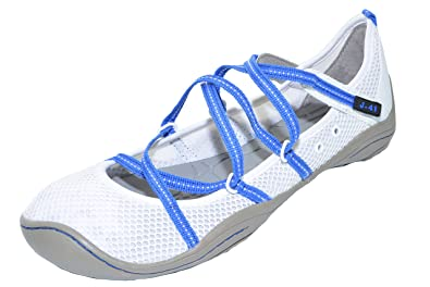 Womens Barefoot Outdoor Sneakers (White/Cobalt)