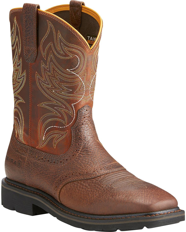Ariat Men's Sierra Shadowland Mesa Work Boot Steel Toe Brown 7.5 EE