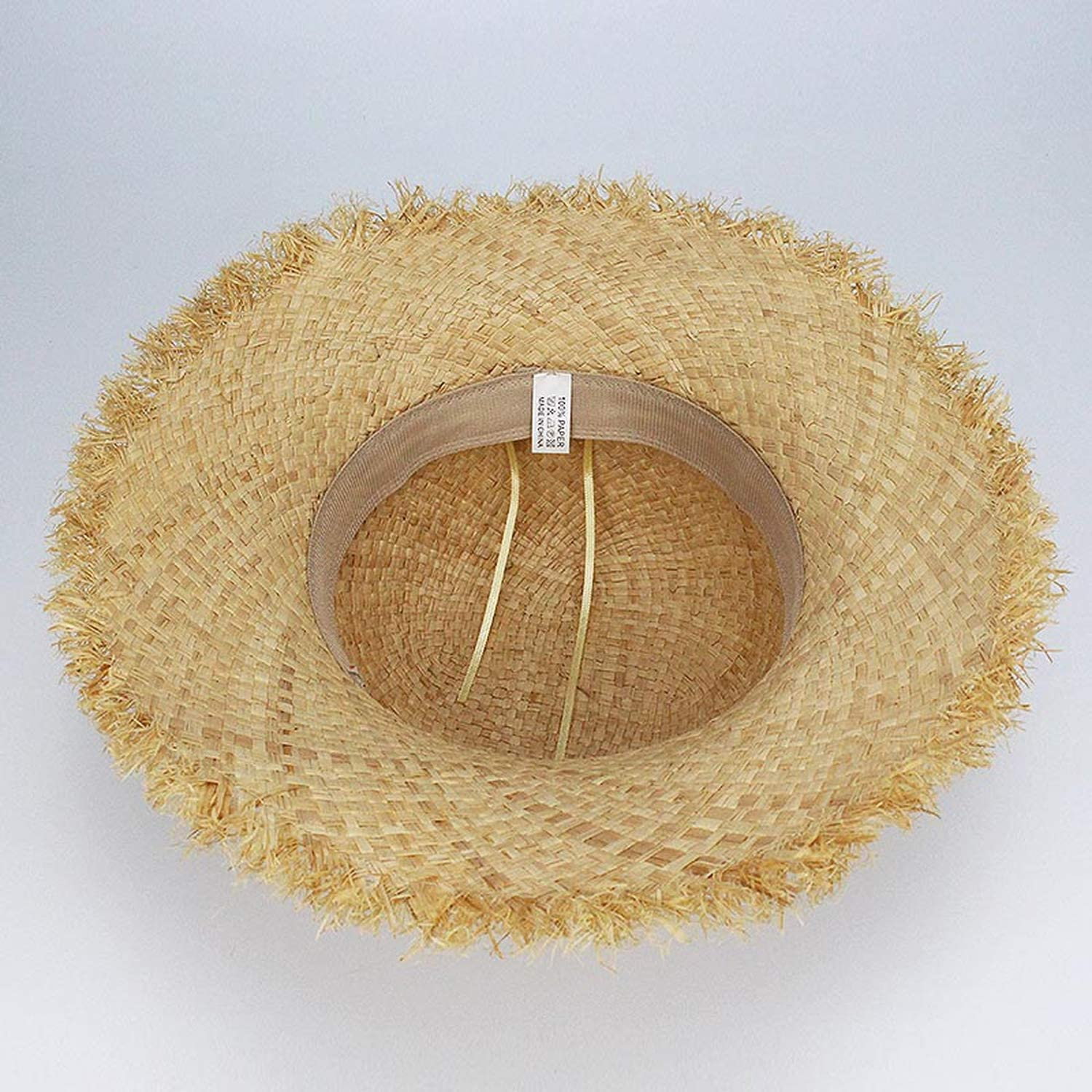 Baby Boy Children Straw Ribbons Beach Hat Cap for Teenage Panama Vacation Trilby Hat