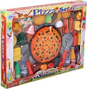 Kitchen Collection Pizza Set Toy, 60 Pieces