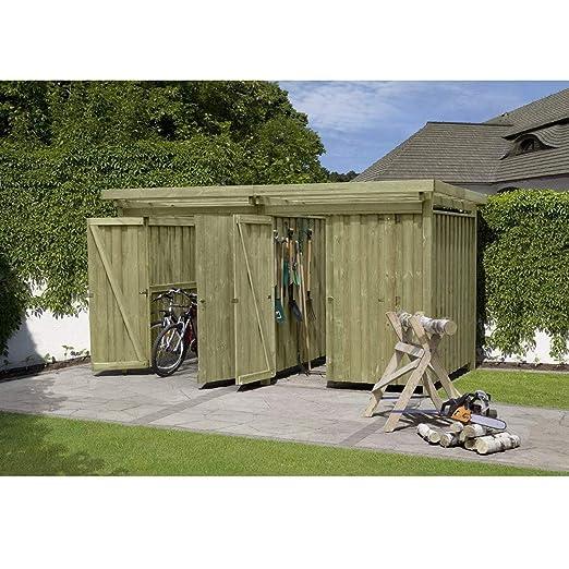 #Fahrradbox Gartenpirat Typ 4 Flachdach#