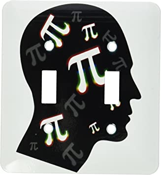 3drose Lsp 24326 2 Think About Pi Pi In Your Mind On White Background Double Toggle Switch Switch Plates Amazon Com
