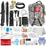 152Pcs Emergency Survival Kit and First Aid Kit, Professional Survival Gear Tool with Tactical Molle Pouch and Emergency Tent