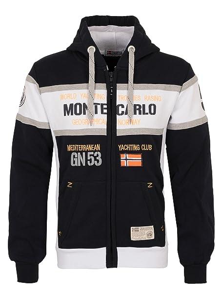Geographical Norway Monte Carlo Sudadera para hombre negro XL: Amazon.es: Ropa y accesorios