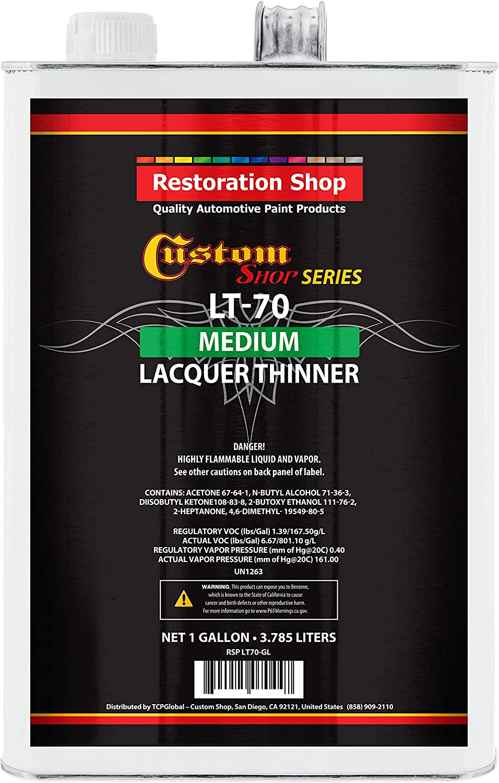 Restoration Shop Acrylic Lacquer Medium Thinner Automotive Grade Low