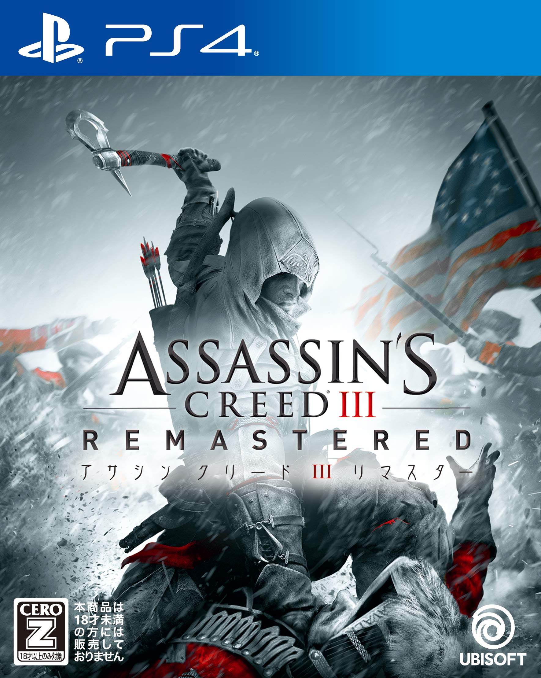 Ubisoft Assassin's Creed III Remastered SONY PS4 PLAYSTATION 4 JAPANESE VERSION