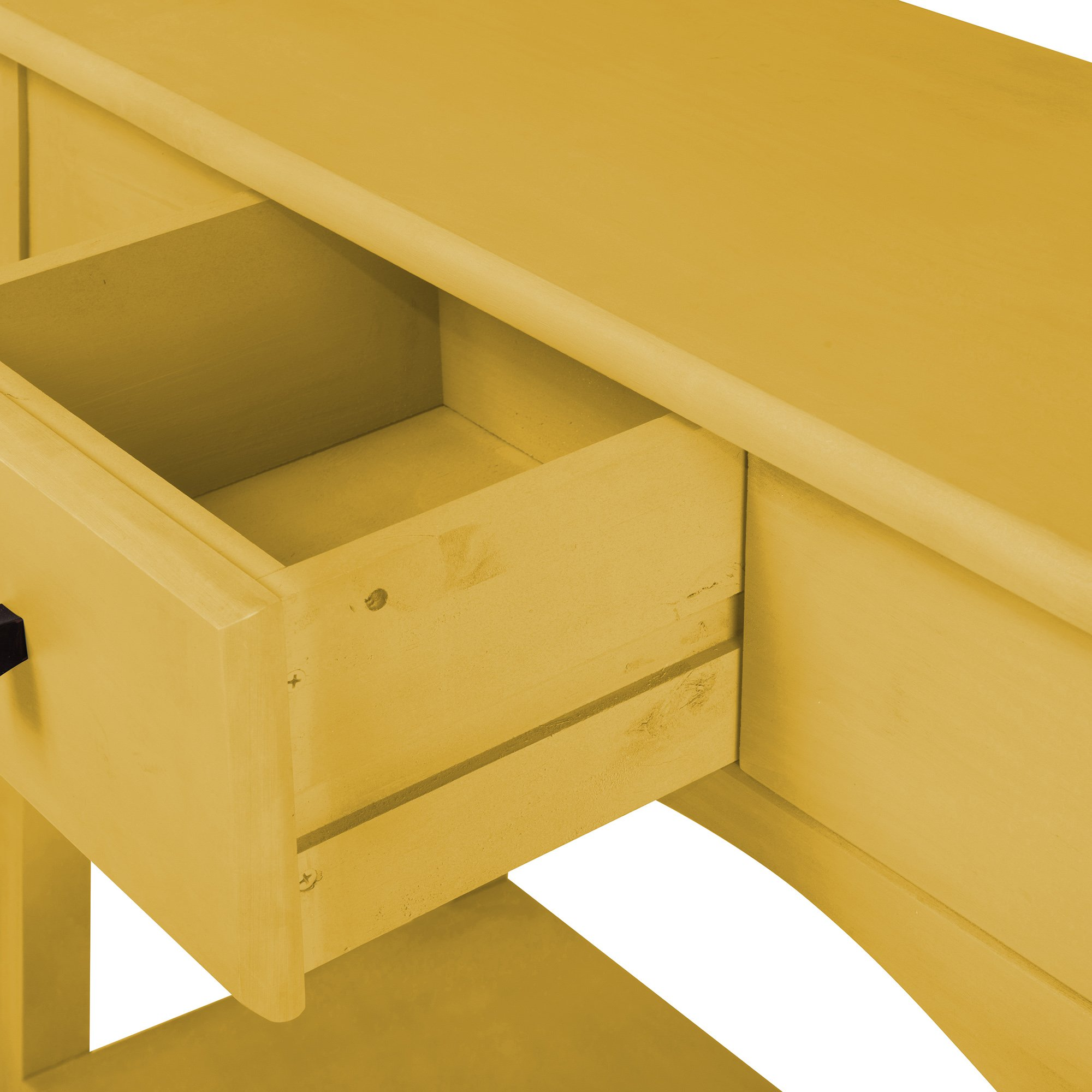 Manhattan Comfort Jay Collection Modern Wooden Sideboard Table with One Drawer and One Shelf, Yellow by Manhattan Comfort (Image #3)