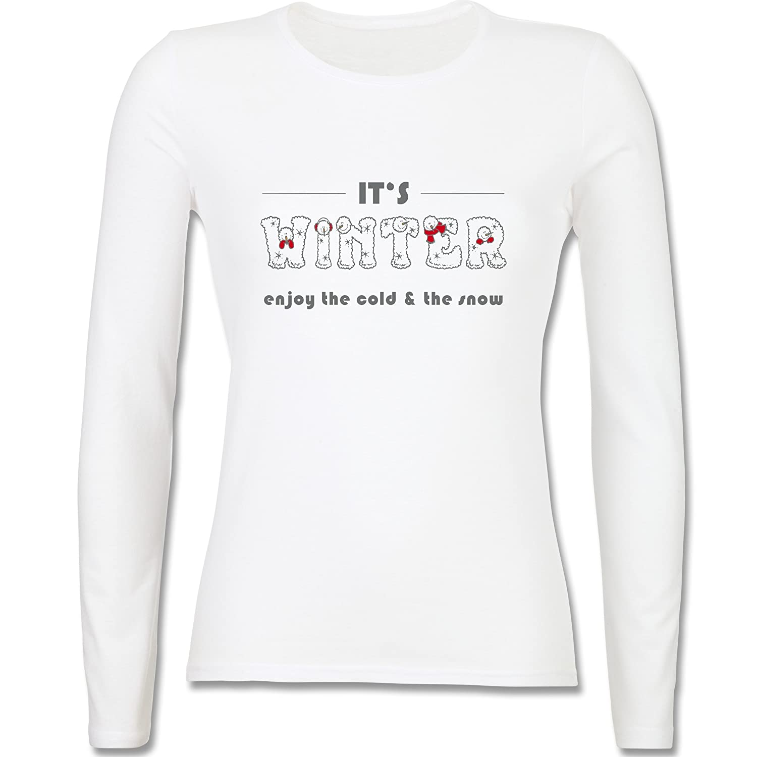 Après Ski - It's winter - tailliertes Longsleeve / langärmeliges T-Shirt für Damen