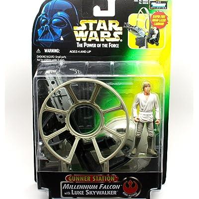 Star Wars The Power Of The Force Gunner Station Luke Skywalker: Toys & Games