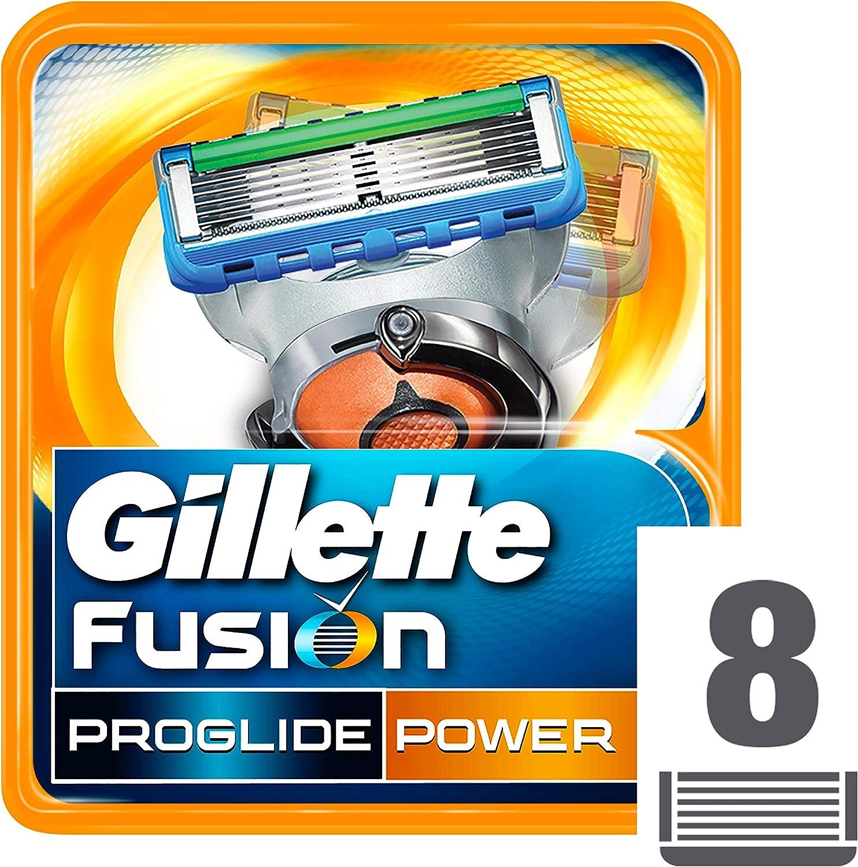 Gillette Fusion ProGlide Power - Cuchillas de recambio para maquinilla de afeitar, 8 unidades