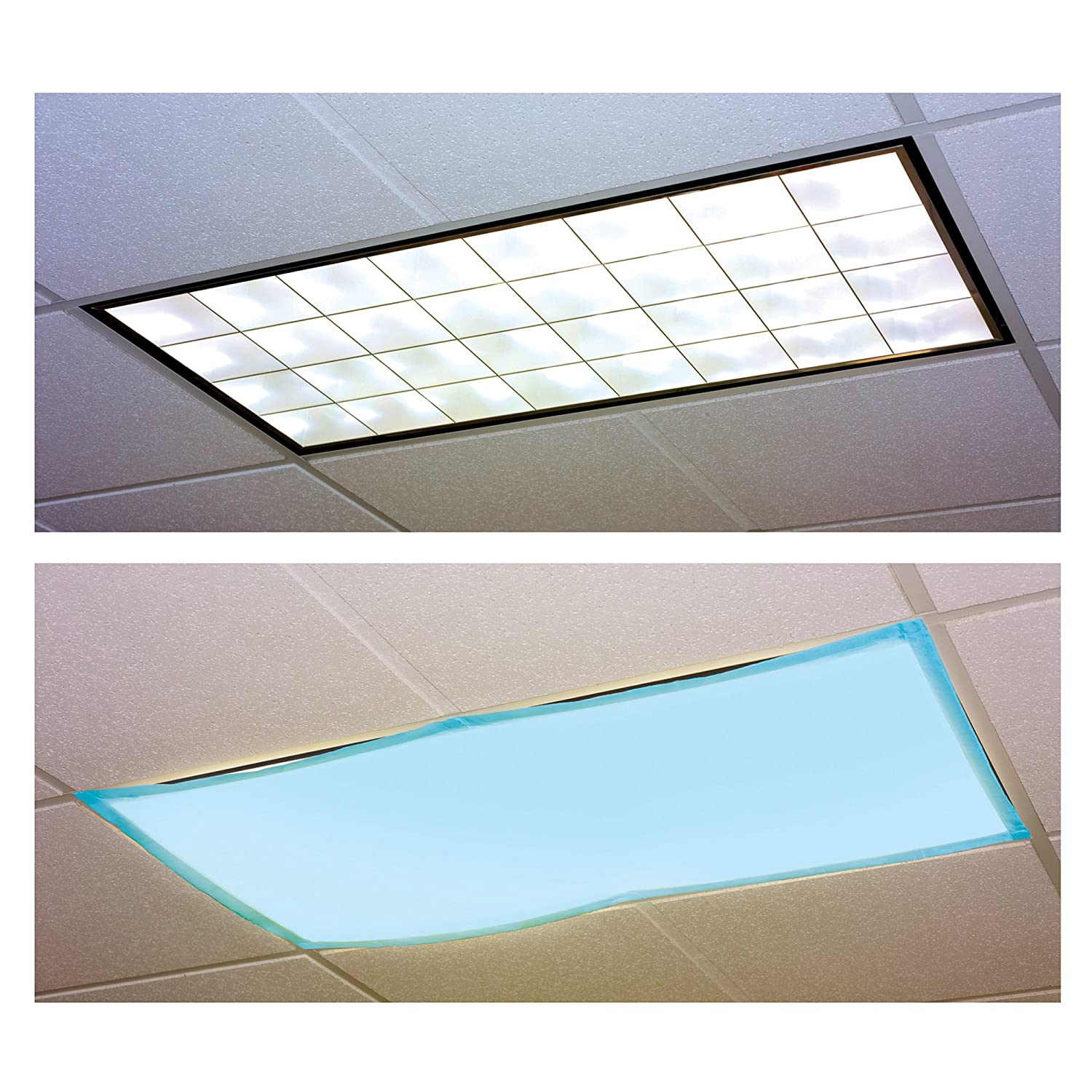 fluorescent light filters set of 4 classroom autism