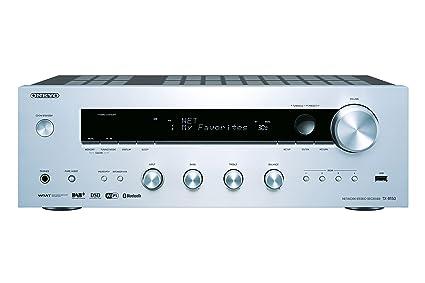 Onkyo TX-8150-S - Receptor estéreo de Red (150 W por Canal, DAC 384 kHz/32 bit, WiFi, Bluetooth) Color Plata