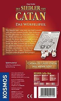 KOSMOS 699109 Die Siedler Von Catan - Juego de Dados [Importado de Alemania]: Amazon.es: Juguetes y juegos