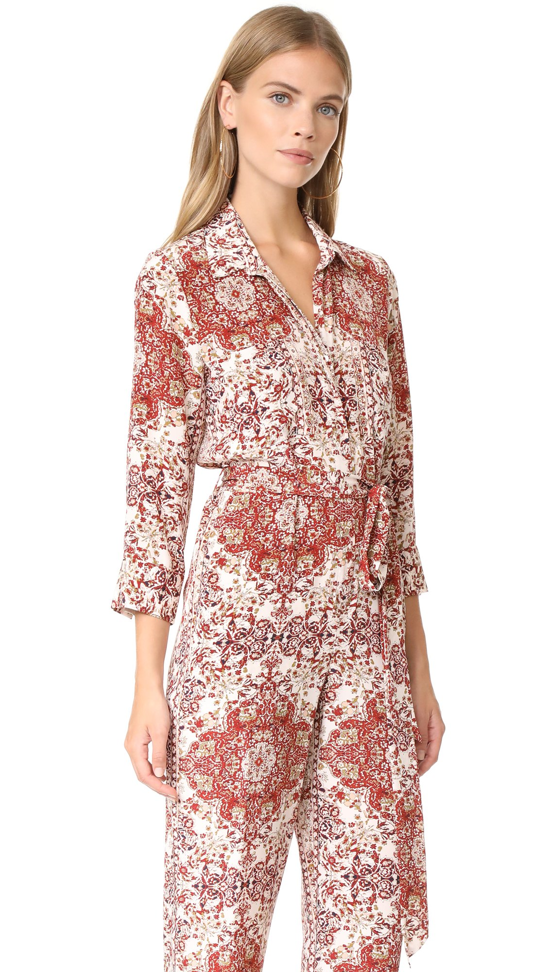 L'AGENCE Women's Delia 3/4 Sleeve Jumpsuit, Rhubarb Multi, 10 by L'agence (Image #3)