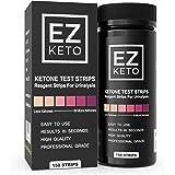 EZ Keto Ketone Testing Strips for Urinalysis with Free App and EZ Keto Start Guide - 150 Test Sticks Measure Ketones. Test if