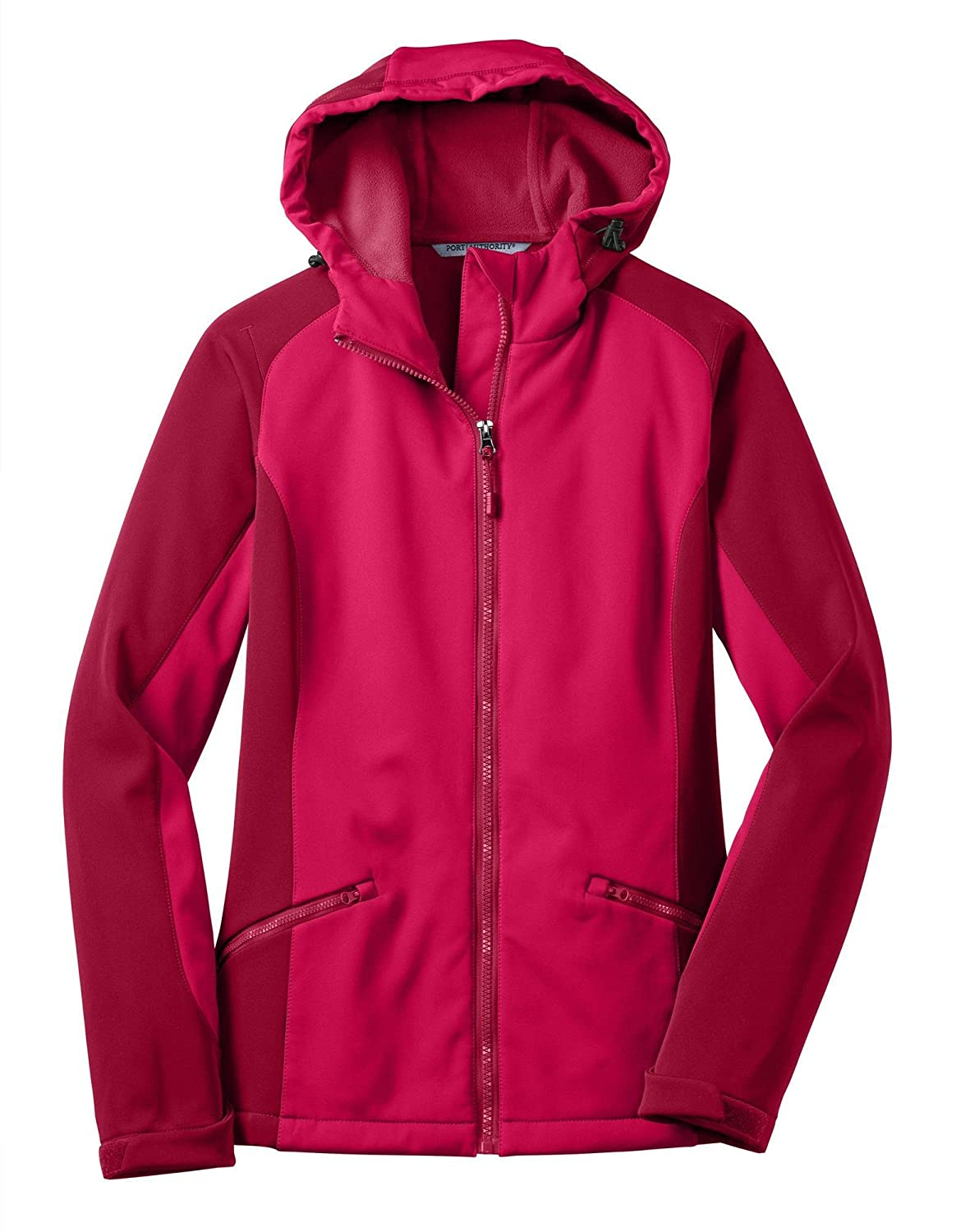 Port Authority L312 Ladies Hooded Soft Shell Jacket - Dark Fuchsia/Loganberry - L