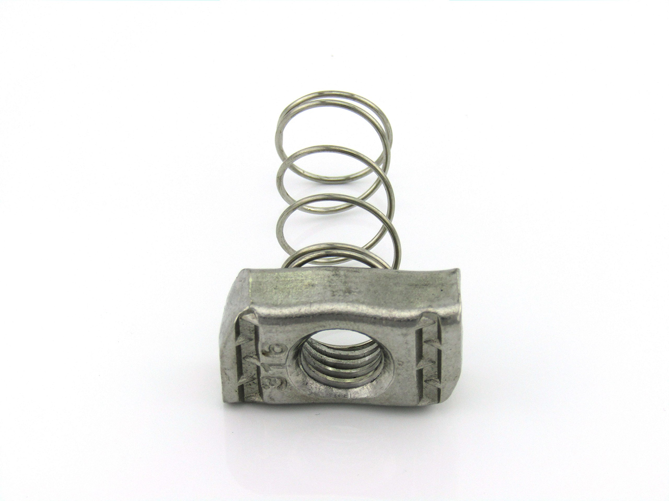 1/2-13X1/2 Thick, Regular Spring Nut, S/S (100 per Box) by ARWS