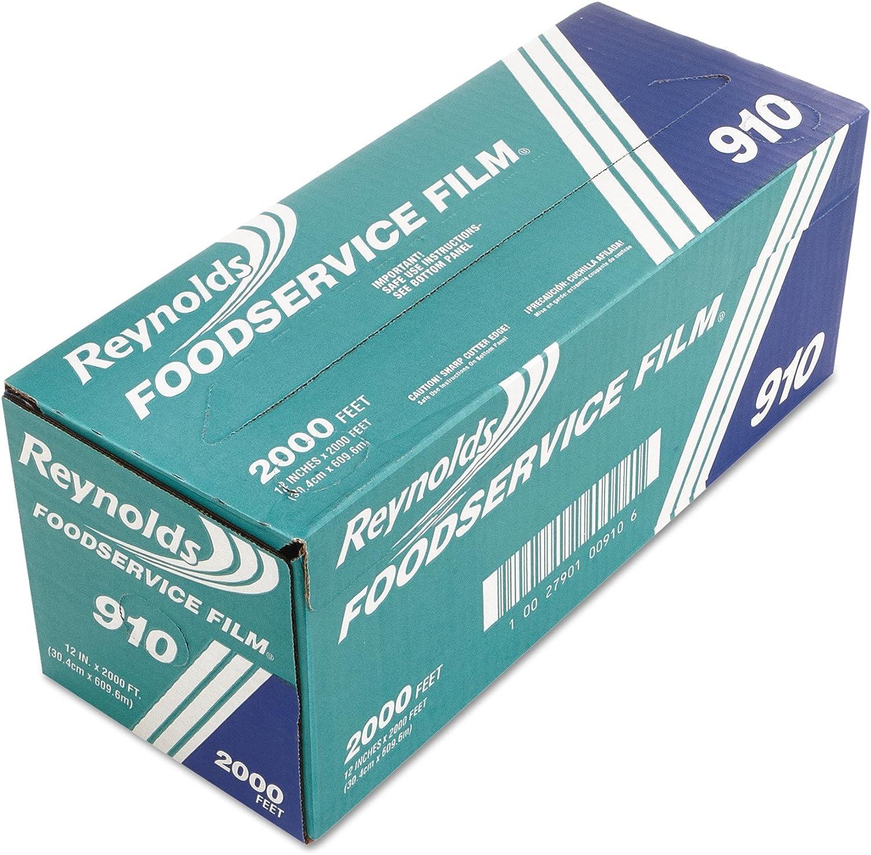 "Reynolds 910M 2000' Length x 12"" Width, Metro Line PVC Food Wrap Film"