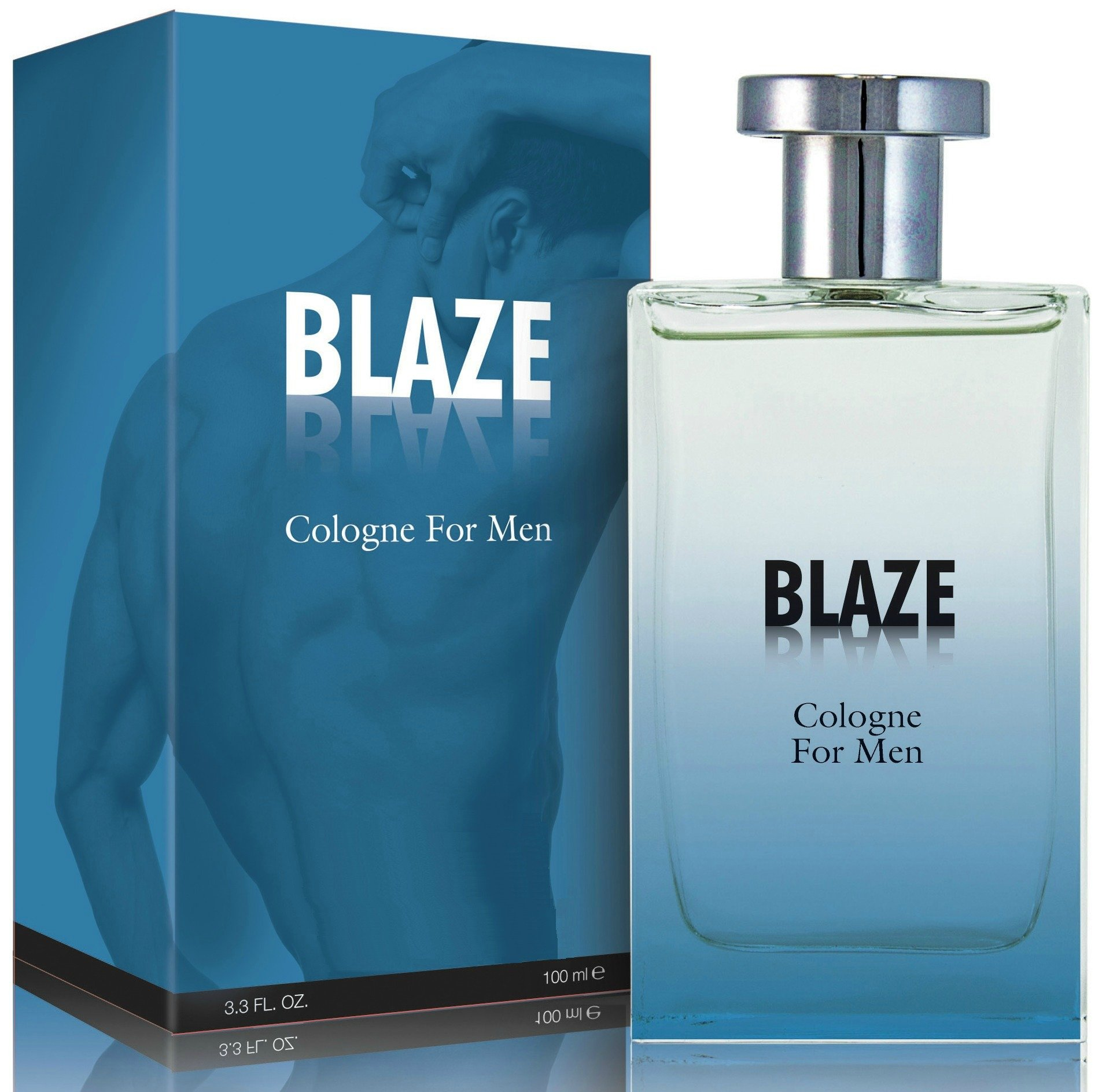 Blaze Cologne Spray for Men, 3.3 Ounces 100 Ml - Scent Similar to Abercrombie and