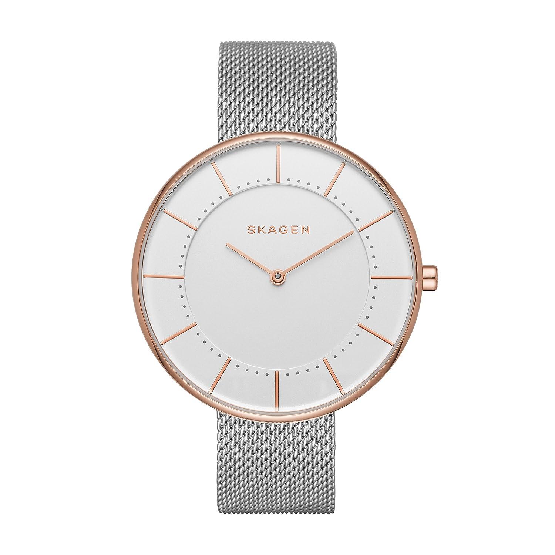 Skagen damen armbanduhr analog quarz edelstahl skw2142