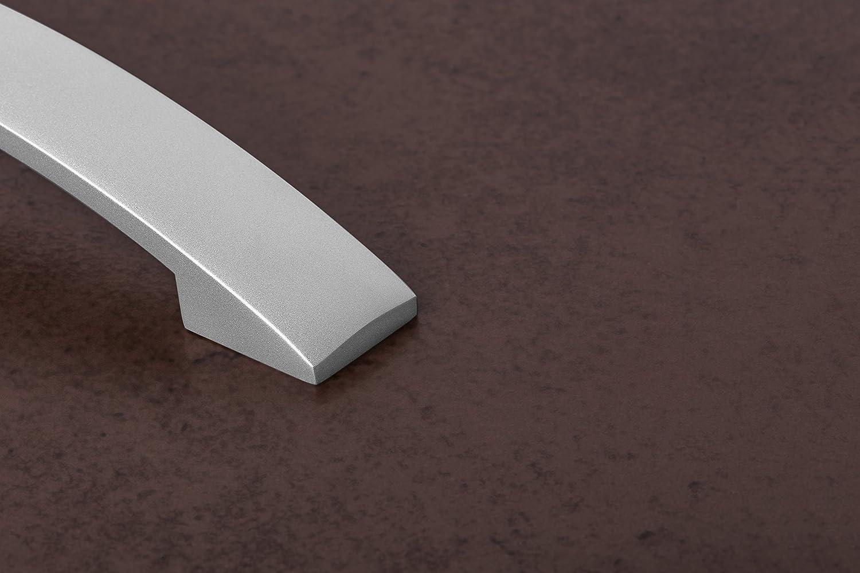 Tiradores para muebles 160 mm Manijas arco BELINDA Tienda de cocina /& Puertas gabinete Altura 32 Aluminio redondeado Calidad marca su Sala estar GedoTec acero inox 10-pc