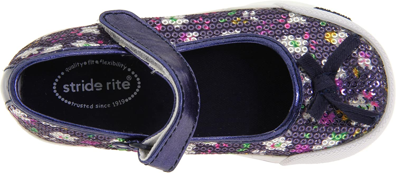 Stride Rite SRT Cassie Leopard Animal Print Toddler Girls Mary Jane Dress Shoes