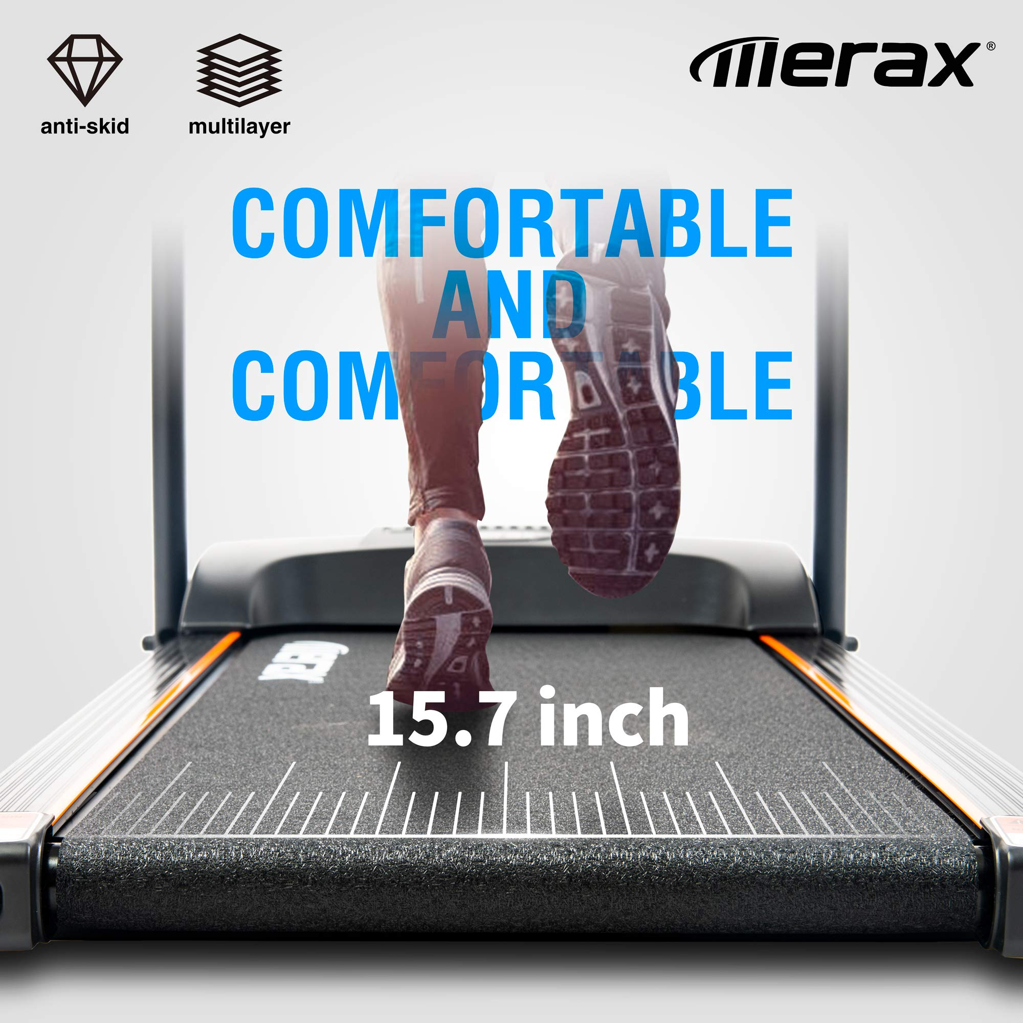 Merax Easy Assembly Folding Electric Treadmill Motorized Running Machine by Merax (Image #3)